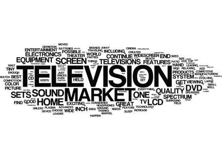 テキスト背景単語の雲概念は市場をヒットするには、最新のトップのテレビ ブランド