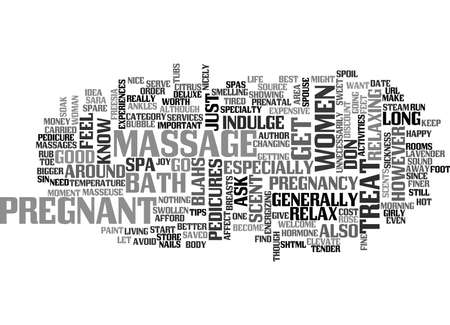 IT S NOT A SIN FOR PREGNANT WOMEN TO HAVE A MASSAGE Text Background Word Cloud Concept