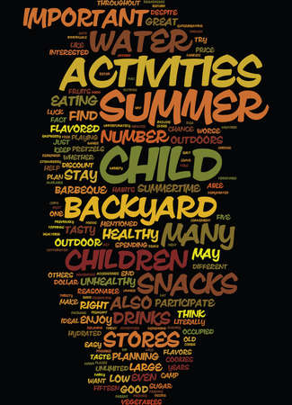 GREAT BACKYARD SNACKS FOR CHILDREN Text Background Word Cloud Concept