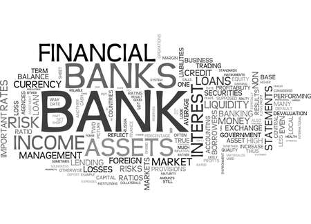 IS MY MONEY SAFE ON THE SOUNDNESS OF OUR BANKS Text Background Word Cloud Concept