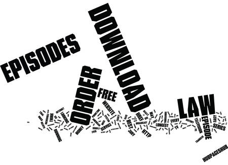 LAW AND ORDER EPISODES Text Background Word Cloud Concept Çizim