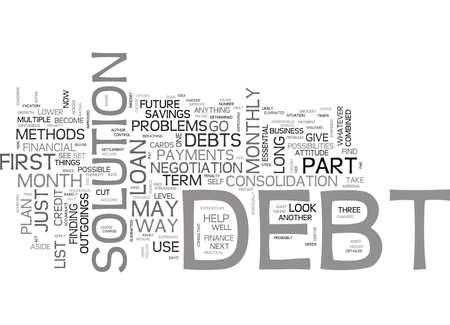 너의 빚 문제에서 벗어나있다 텍스트 배경 단어 구름 개념
