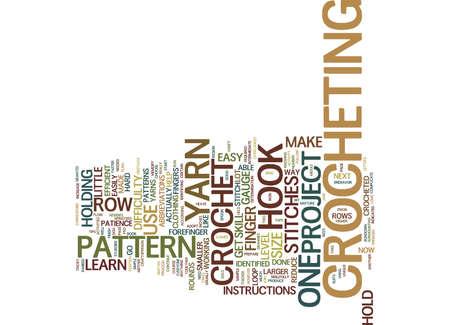 LEARN TO CROCHET Text Background Word Cloud Concept Ilustração