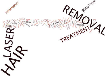 LASER HAIR REMOVAL TIPS Text Background Word Cloud Concept