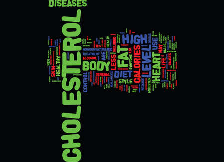 LEARN ABOUT HIGH CHOLESTEROL AND HOW TO CONTROL IT Text Background Word Cloud Concept