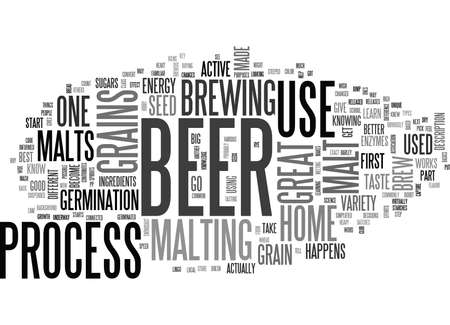 GREAT GRAINS FOR A GREAT BEER Text Background Word Cloud Concept