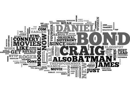 JAMES BOND REBUILT Text Background Word Cloud Concept