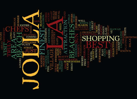 captivated: LA JOLLA TRAVEL GUIDE Text Background Word Cloud Concept