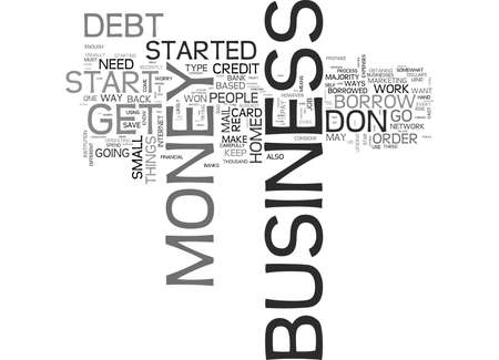 IS YOUR BUSINESS DEBT A BOTTOMLESS PIT Text Background Word Cloud Concept