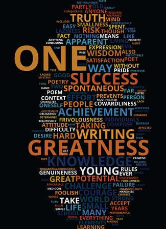 GREATNESS Tekstachtergrond Word Cloud Concept Stock Illustratie