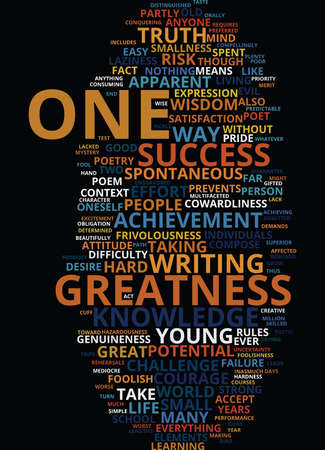 GREATNESS Text Background Word Cloud Concept