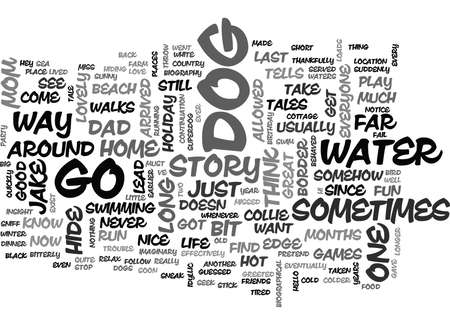 JAKE THE BORDER COLLIE TELLS HIS TALES Text Background Word Cloud Concept