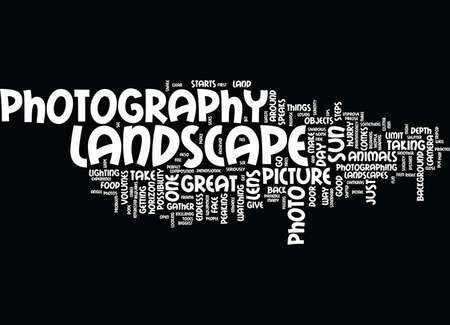 SUGGERIMENTI PER LA FOTOGRAFIA DEL PAESAGGIO PER MIGLIORARE L'ESPERIENZA Sfondo del testo Nube Concetto Word Vettoriali