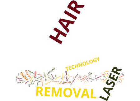 LASER HAIR REMOVAL WHAT IS IT Text Background Word Cloud Concept Illustration