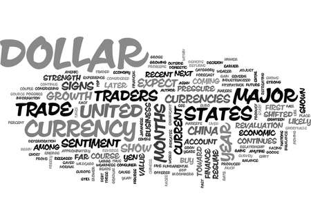 IS THE U S DOLLAR ABOUT TO REVERSE COURSE Text Background Word Cloud Concept
