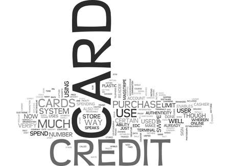 IS YOUR CREDIT CARD GOOD ENOUGH Text Background Word Cloud Concept