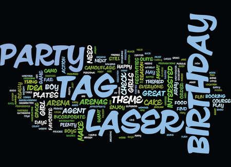 レーザー タグ誕生日パーティー本文背景単語雲概念