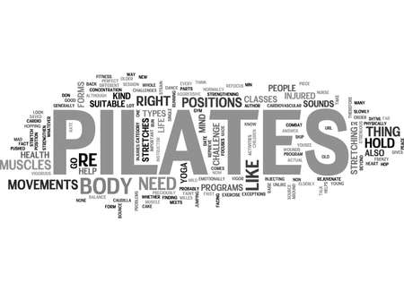 IS PILATES A NEW FITNESS TREND RIGHT FOR YOU Text Background Word Cloud Concept