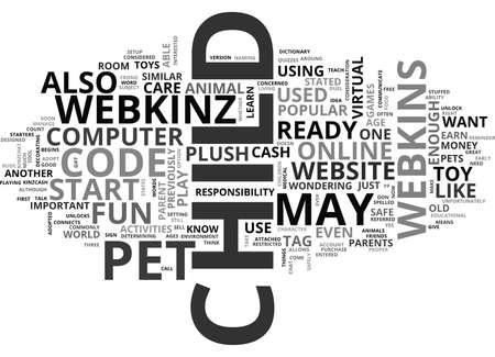 IS JE KIND KLAAR VOOR EEN WEBKINS PET Tekst Achtergrond Word Cloud Concept