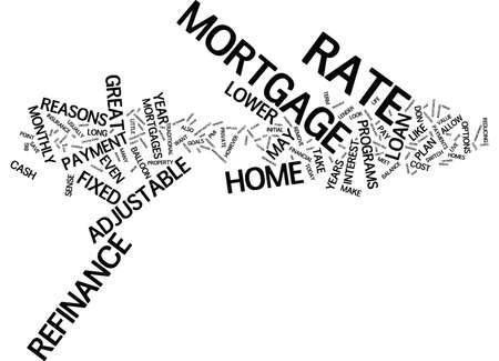 GREAT REASONS TO REFINANCE Text Background Word Cloud Concept