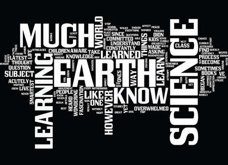 LEARN FROM EARTH SCIENCE Text Background Word Cloud Concept