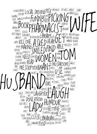 LAUGHTER USE IT TO PICK UP WOMEN Text Background Word Cloud Concept Stock Illustratie