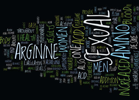 ejaculation: L ARGININE THE LATEST MIRACLE Text Background Word Cloud Concept