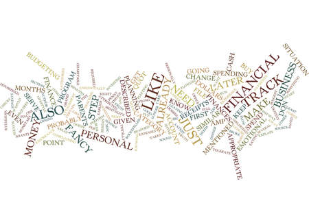 KNOW THY FINANCES Text Background Word Cloud Concept Illustration