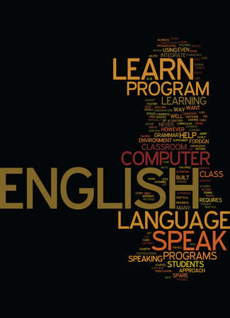 LEARN TO SPEAK ENGLISH Text Background Word Cloud Concept