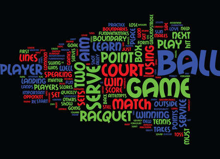 happens: LEARN TENNIS Text Background Word Cloud Concept Illustration