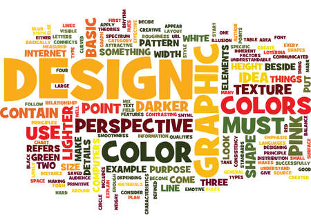 GRAPHIC DESIGNS STANDARDS Text Background Word Cloud Concept