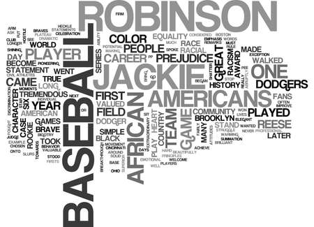 JACKIE ROBINSON Text Background Word Cloud Concept Illustration