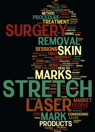 LASER SURGERY STRETCH MARK REMOVAL Text Background Word Cloud Concept