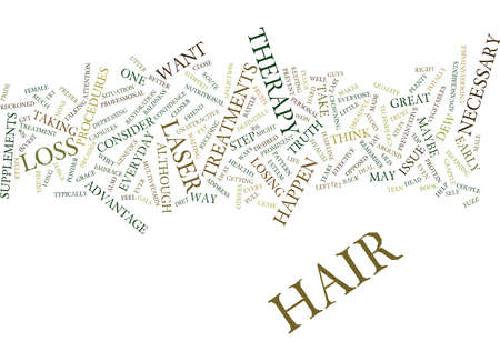 LASER THERAPY HAIR Text Background Word Cloud Concept