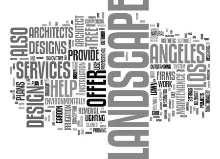 LANDSCAPE ARCHITECT LOS ANGELES Text Background Word Cloud Concept Çizim