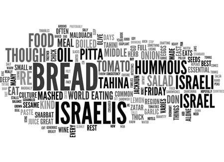 ISRAËLISCHE VOEDINGSGIDS Tekst Achtergrondword Wolkenconcept