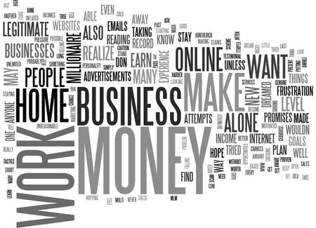 IT IS POSSIBLE TO MAKE MONEY ONLINE AND WORK AT HOME Text Background Word Cloud Concept