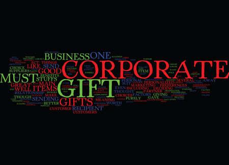 GREAT CORPORATE GIFT Text Background Word Cloud Concept Illusztráció