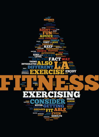 LA FITNESS Text Background Word Cloud Concept