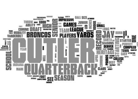 JAY CUTLER DRAFT DAY PICKS Text Background Word Cloud Concept