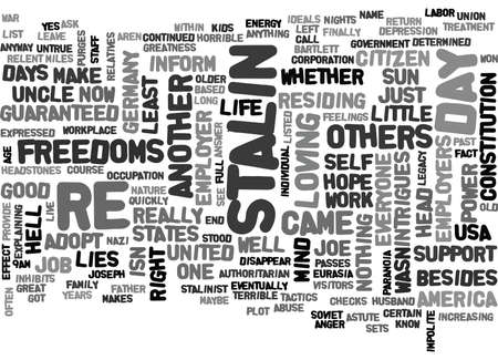 IS STALIN STUCK IN YOUR HEAD Text Background Word Cloud Concept