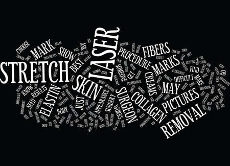 LASER STRETCH MARK REMOVAL BEFORE AND AFTER Text Background Word Cloud Concept