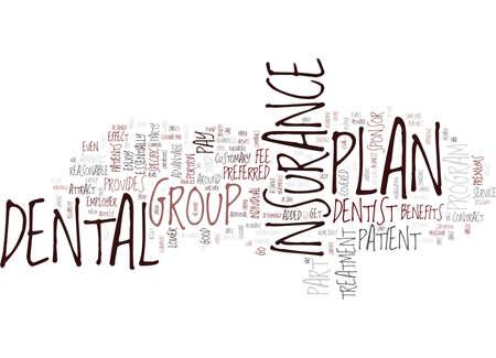 GROUP DENTAL INSURANCE Text Background Word Cloud Concept Иллюстрация