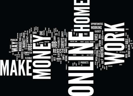 GREAT WAYS TO MAKE MONEY ONLINE Text Background Word Cloud Concept