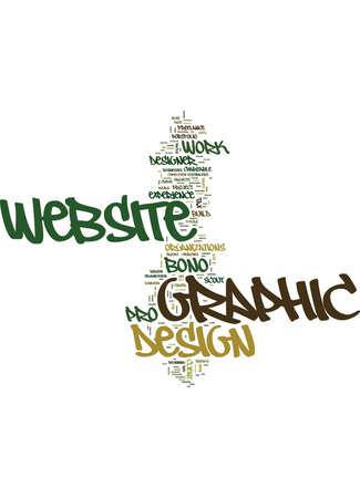 GRAPHIC WEBSITE DESIGN Text Background Word Cloud Concept