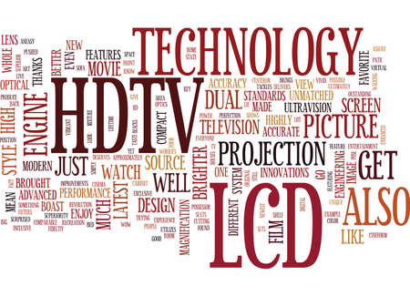 LCD HDTV Text Background Word Cloud Concept