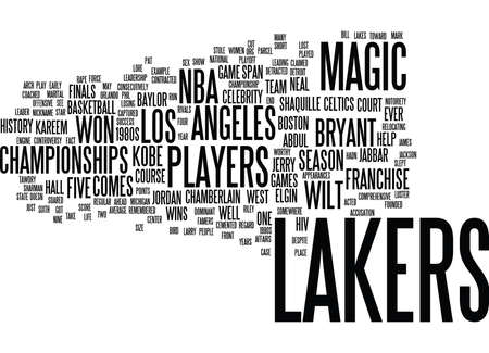 LAKERS PLAYERS Text Background Word Cloud Concept