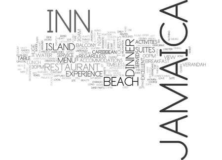ジャマイカ イン テキスト背景単語雲概念