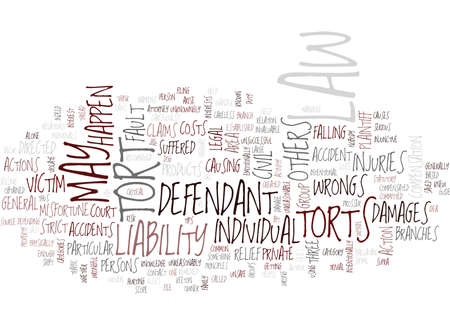 YOU AND THE TORT LAW A GUIDE Text Background Word Cloud Concept
