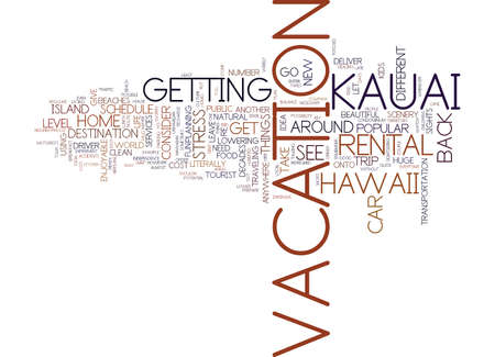 YOU SAY HAWAII AND I SAY KAUAI LET S GO HAVE SOME FUN Text Background Word Cloud Concept